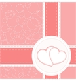 valentine heart wedding card background vector image