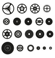 various cogwheels parts of watch movement eps10 vector image