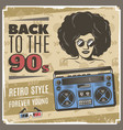 vintage 90s style poster vector image vector image