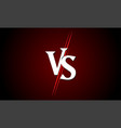 vs versus icon sport match challenge battle vector image vector image