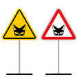 Warning sign attention cat Hazard yellow signpet vector image vector image