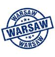 warsaw blue round grunge stamp vector image vector image