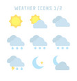 weather icons one vector image