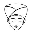 Woman cartoon icon Spa center design vector image vector image