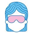 woman with sleeping mask vector image vector image