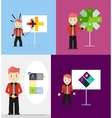 Young businessman presents his modern option vector image vector image