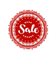 Stamp with text Sale written inside Lettering vector image