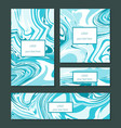 liquid swirls handmade texture business cards or vector image