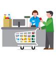 shopping food supermarket vector image