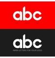 letter A B C logo paper set background vector image
