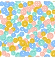 Seamless pattern with bright sewing buttons vector image