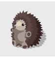 Nice childrens toy gray hedgehog vector image