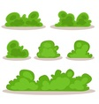 Set of bushes in hand-drawn style vector image