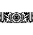 abstract tribal art tattoo border vector image vector image