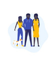 african american family with dog vector image