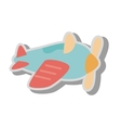 airplane kid toy icon vector image vector image