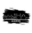 algiers algeria city skyline silhouette hand vector image vector image