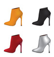 ankle set boots vector image