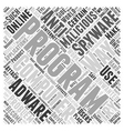 anti spyware adware Word Cloud Concept vector image vector image