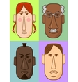 Avatar woman man heads characters vector image vector image
