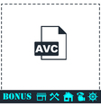 AVC icon flat vector image vector image