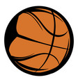 basketball icon cartoon vector image vector image