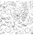Bird and grape seamless pattern vector image vector image