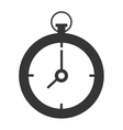 black and white clock graphic vector image