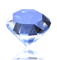 Blue diamond vector image vector image