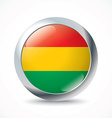 Bolivia flag button vector image