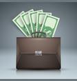 Briefcase bribe money dollar icon