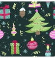 bright christmas seamless pattern vector image