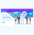 business plan people corporate workers vector image vector image