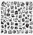 business symbols - icon set design vector image vector image