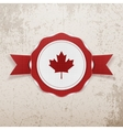 Canada patriotic Badge with Ribbon vector image vector image