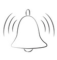 cartoon image of notification icon bell symbol vector image vector image