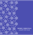 christmas snowflakes vertical ornament greeting vector image