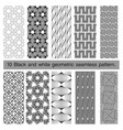 collection of black and white geometric seamless vector image