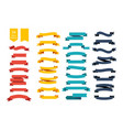 colorful ribbon banners set of 34 ribbons vector image vector image