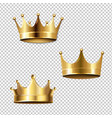 crown set isolated transparent background vector image vector image