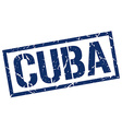 Cuba blue square stamp vector image vector image