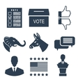 Elections Campaign and Voting Set Signs Symbols vector image vector image