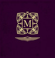 elegant outline monogram with letter m design vector image