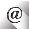 EMAIL SIGN IN POLY ART DESIGN vector image vector image