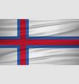 faeroe islands flag flag of faeroe islands vector image