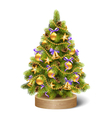 Festive Decoration Christmas Tree Pine on Wooden vector image vector image