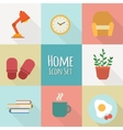 flat home icons vector image vector image