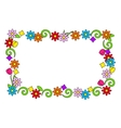 floral frame of bright colors vector image vector image