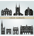 Gdansk landmarks and monuments vector image vector image