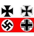 german cross vector image vector image